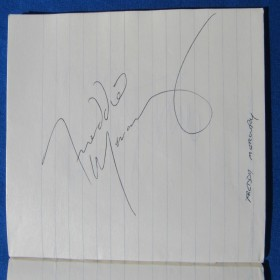 Live Aid Autograph Book Signed Freddie Mercury, Roger Taylor and Others