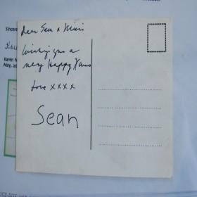 Xmas Card Hand Written by John Lennon for Sean